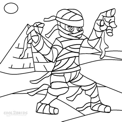 Egyptian Mummy Coloring Pages - Eskayalitim