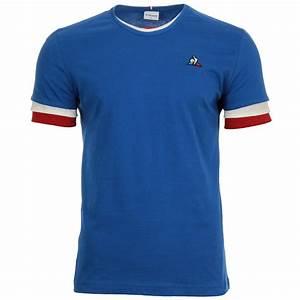 Pull Le Coq Sportif Bleu Blanc Rouge : le coq sportif tri tee ss n 1 m 1820053 t shirts homme ~ Melissatoandfro.com Idées de Décoration