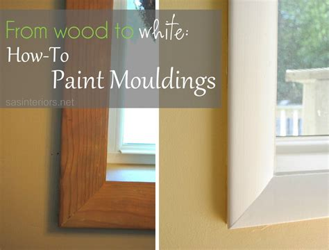 from wood to white how to paint mouldings at sasinteriors