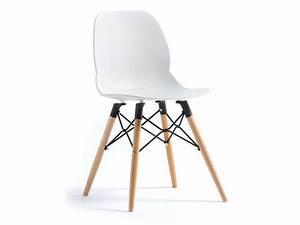 Chaise OSLO coloris blanc Vente de Chaise Conforama