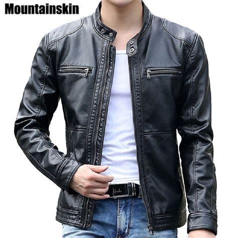 mc leather jacket aliexpress com buy mountainskin 5xl men 39 s leather
