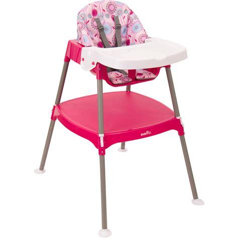 chaise haute 3 en 1 evenflo convertible high chair dottie lime walmart com