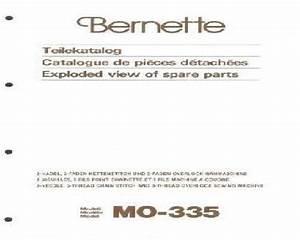 Bernina Bernette Overlock Serger Parts Books