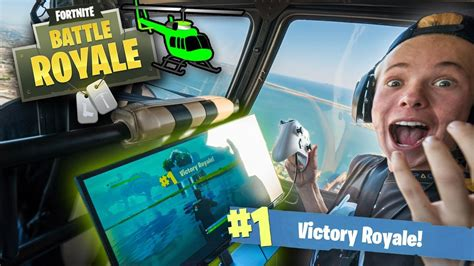 won  game  fortnite   helicopter ft