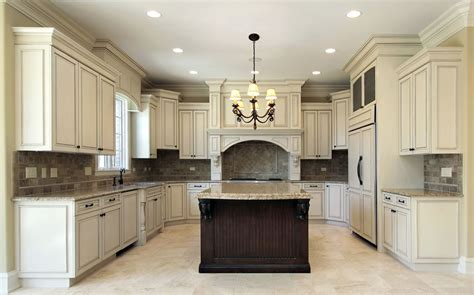 Ideas For Space Above Kitchen Cabinets - antique white kitchen cabinets design photos designing idea