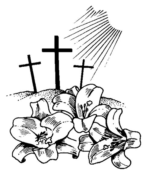 easter cross clipart black and white christian easter clip free clipart best