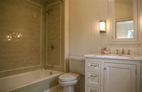 Green Bathroom Backsplash by Green Subway Tile Backsplash Transitional Bathroom