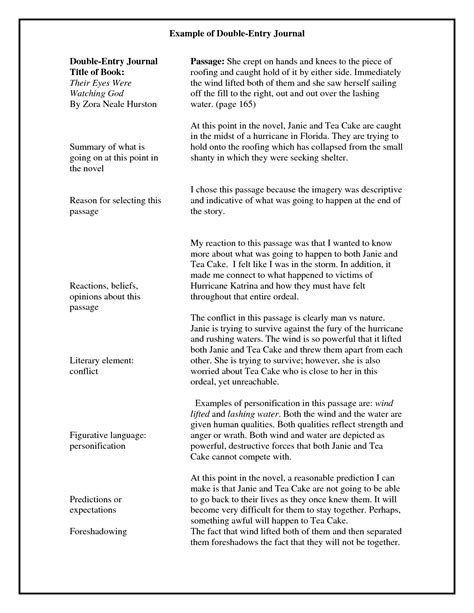 double entry journals examples google search teaching