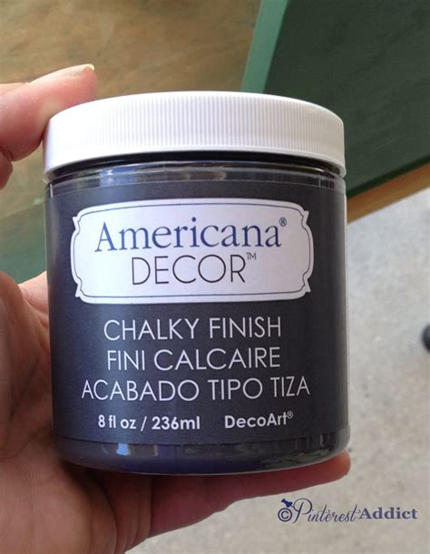 Americana Decor Chalky Finish Paint by Mid Century Modern End Table Makeover Addict