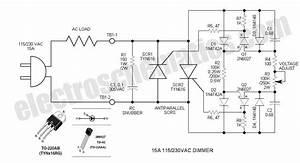 Scr Phase Control Dimmer Circuit  U2013 Circuit Wiring Diagrams