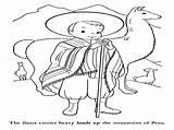 Peru Coloring Printable Getdrawings Activities sketch template