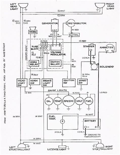 basic ford rod wiring diagram rod car and truck tech rods cars ford
