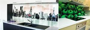 Crédence Cuisine En Verre Imprimé : cr dence en verre sur mesure pour cuisine righetti ~ Edinachiropracticcenter.com Idées de Décoration