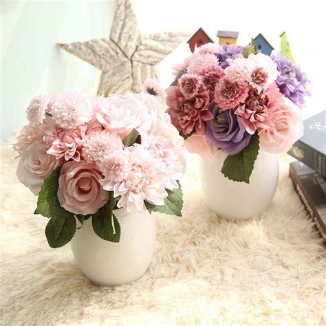rose artificial flowers bridal bouquet fake flower