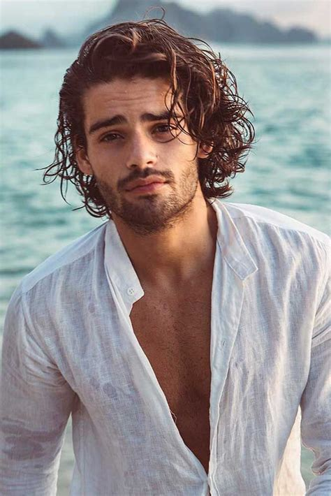 Styling and maintaining long, curly hair can be burdening sometimes. How To Get And Style Curly Hair Men Like To Sport   Curly ...