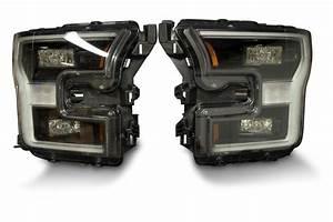 Pair  2015-17 Ford F150 Oem Led Headlights