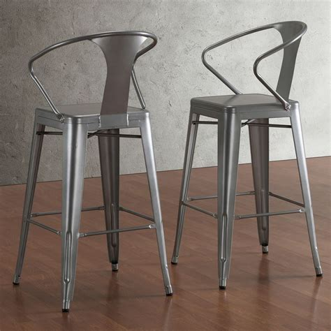 tabouret bar stools with back tabouret silver with back 30 inch bar stools set of 2