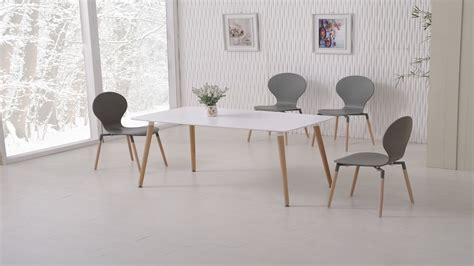 dining table with grey chairs white dining table and 6 grey chairs homegenies