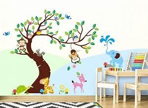 Wandtattoo Elefant Kinderzimmer : wandtattoo baum mit zebra reh elefant affen w5178 b ume ste kinderzimmer wandtattoos ~ Sanjose-hotels-ca.com Haus und Dekorationen
