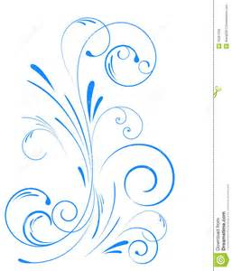 Swirl Floral Ornaments