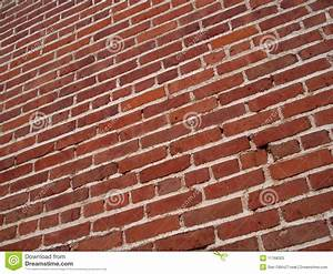 Angled, Red, Brick, Wall, Background, Stock, Image