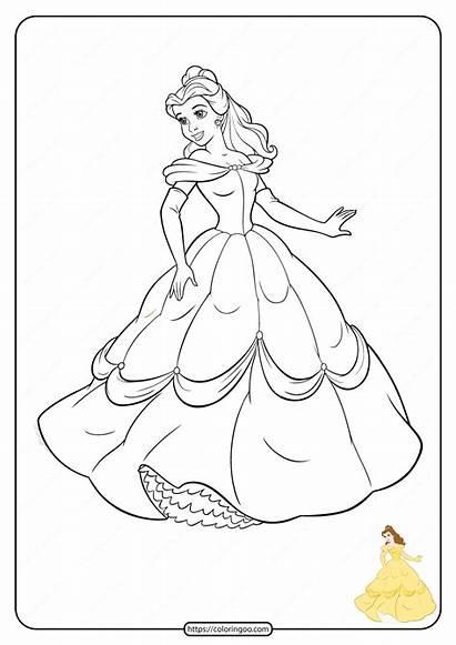 Disney Coloring Princess Pages Printable