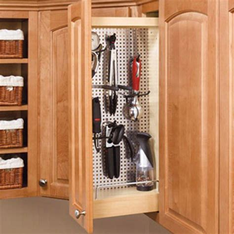 wide wall cabinet pullout organizer wstainless steel