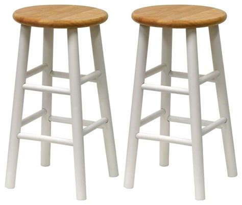 beech white kitchen stools set of 2 contemporary