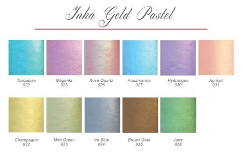 viva decor inka gold pastels 53 b 228 sta bilderna om color charts p 229 distress