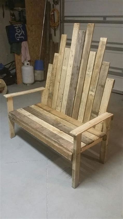 Pallet Outdoor Chair Plans by Rustic Diy Pallet Outdoor Bench Pallet Furniture Plans