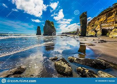 Pacific Coast Zealand Island North Phototourism Ecological