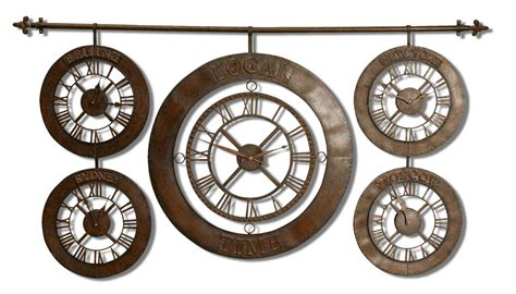Uttermost 06909 Time Zones Wall Clock 3.40