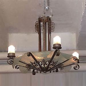 Art Deco Deckenleuchte : 01387 schmiedeeiserne deckenleuchte wandel antik ~ Sanjose-hotels-ca.com Haus und Dekorationen