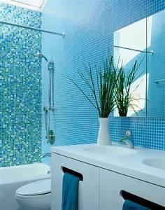 1001 designs uniques pour une salle de bain turquoise With carrelage adhesif salle de bain avec led pour plantes vertes