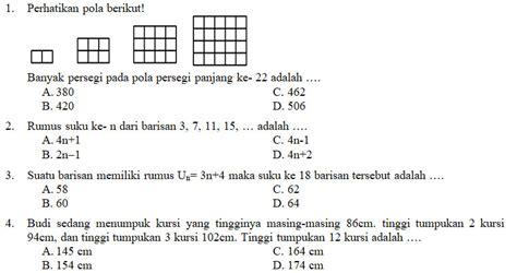 Ucun yaitu uji coba ujian nasional. Kisi-Kisi, Soal dan Kunci Jawaban Matematika SMP Kelas 8 ...