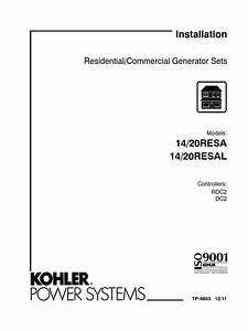 Installation  Residential  Commercial Generator Sets