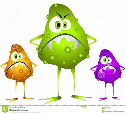 Germs Bacteria Viruses Clip Cartoon Evil Nasty