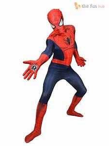 Adult, Men, U0026, 39, S, Marvel, Zappar, Superhero, Morphsuit, Halloween, Fancy, Dress, Costume