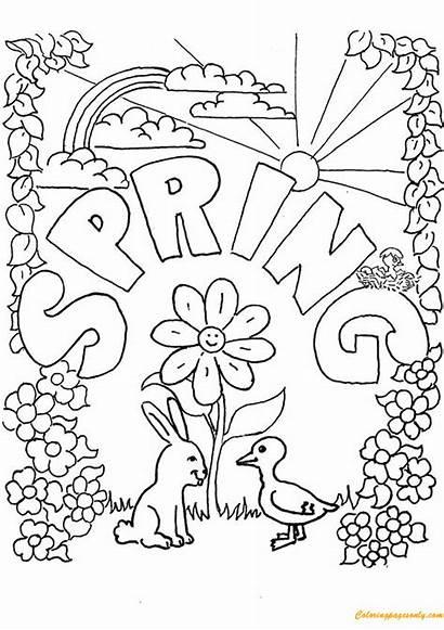 Coloring Spring Pages Printable Sheets Season Seasons