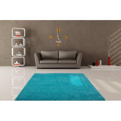 tapis de salon uni en polypropylene bleu clair hollywood