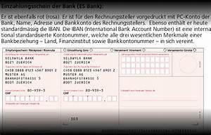 Iban Nr Berechnen : einzahlungsscheine rot und orange iban swisschiro ~ Themetempest.com Abrechnung