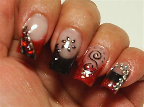 Nail Designs Black And Red