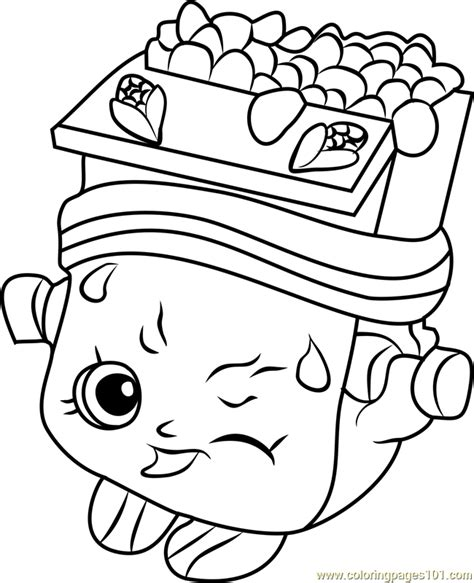breaky crunch shopkins coloring page  shopkins