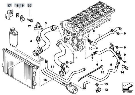 Bmw M52 Engine Diagram by Original Parts For E38 728i M52 Sedan Engine Cooling