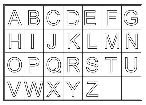 printable letters of the alphabet free printable letters activity shelter 24073