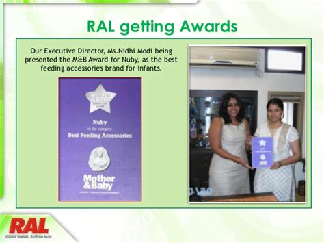 RAL consumer products limited corporate presentation
