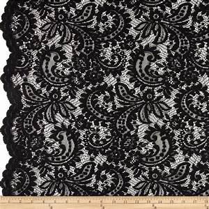 Telio Amelia Lace Black - Discount Designer Fabric