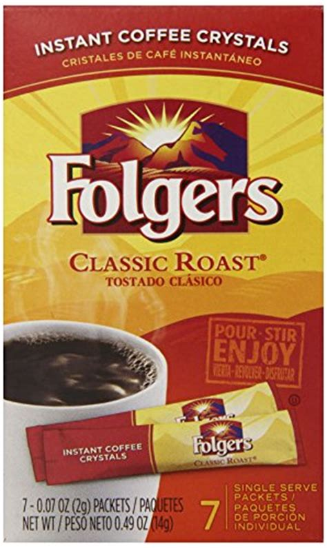 They take that instant powder, and then liquify it. Folgers Instant Coffee Crystals Classic Roast Single Serve Packets, 0.07 Ounce P | eBay