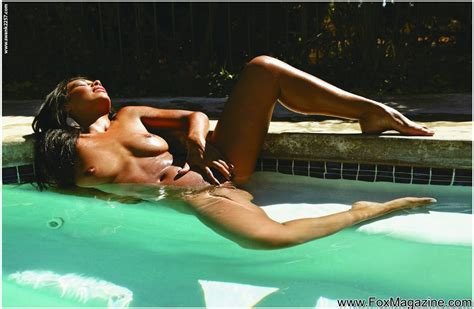Eye Popping Latina Cassandra Cruz Takes A Naked Dip In The