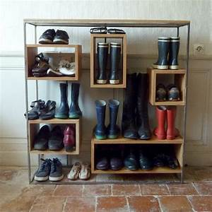 Petit Meuble A Chaussure : petit meuble chaussures un week end la maison ~ Teatrodelosmanantiales.com Idées de Décoration